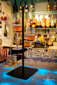 Flute & Dram champagne tower st pete food and wine tour