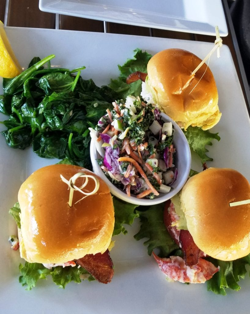 Trio of Sliders at Lucky Lobster
