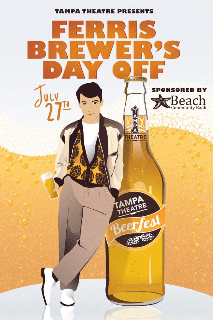 Tampa Theatre host Beerfest 2019 with Ferris Bueller's Day Off