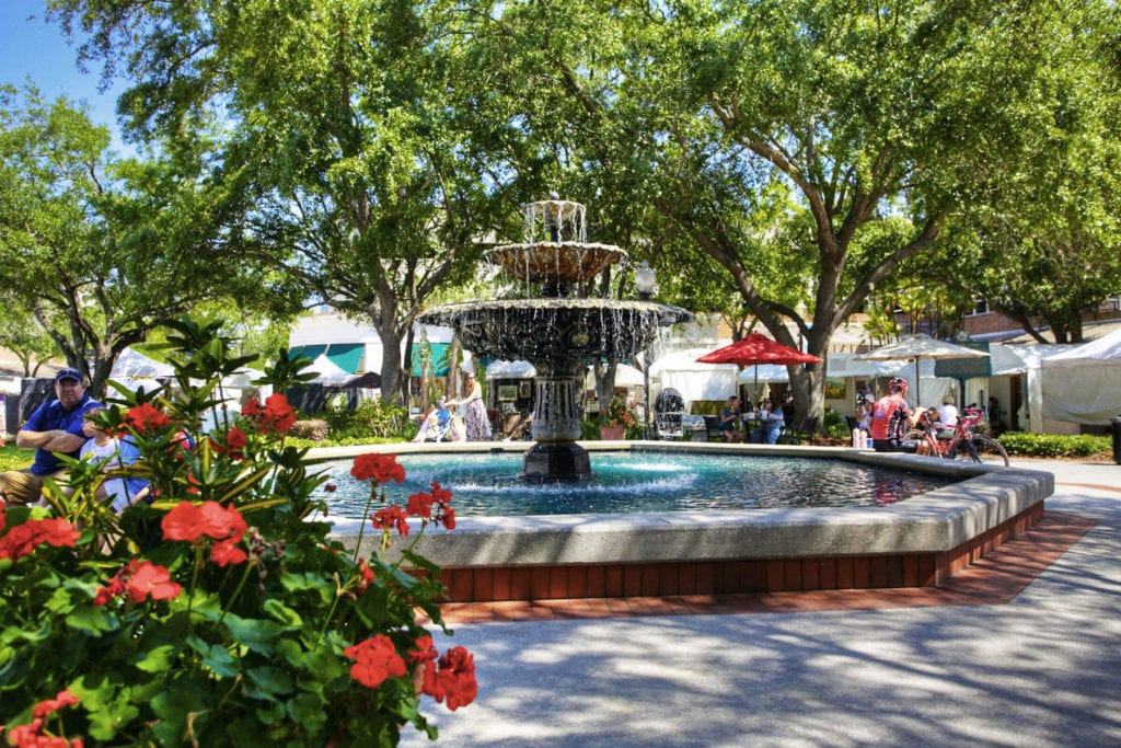 Hyde Park Village holds many events and is a great place to shop in Destination Tampa Bay