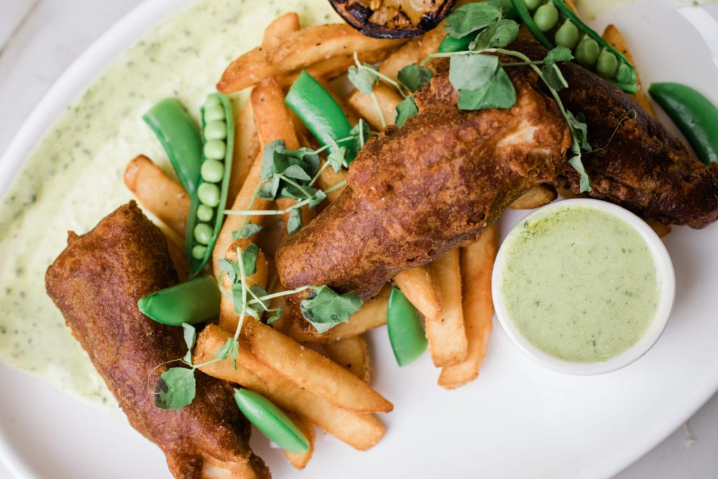 Fish and Chips at the Fenway Chophouse