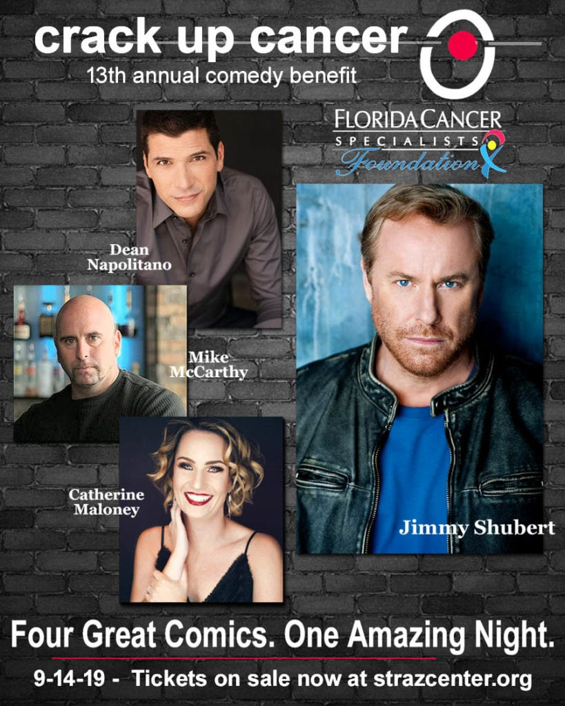 Laugh until your stomach hurts. That's what local premier comedy fundraiser, Crack up Cancer, gives you. Oh, and by the way, 100% of the profits go directly to help local cancer patients and their families. In its 13th year, Crack up Cancer Comedy Benefit