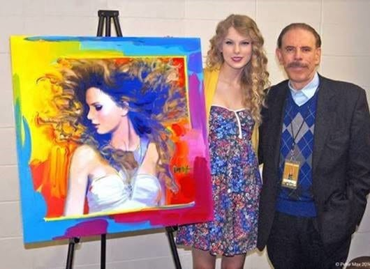 Petre Max with Taylor Swift