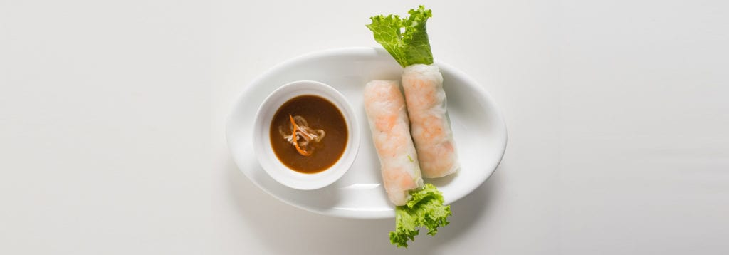 spring Rolls at La V Vietnamese Fusion: Boba Teas, Pho, and More