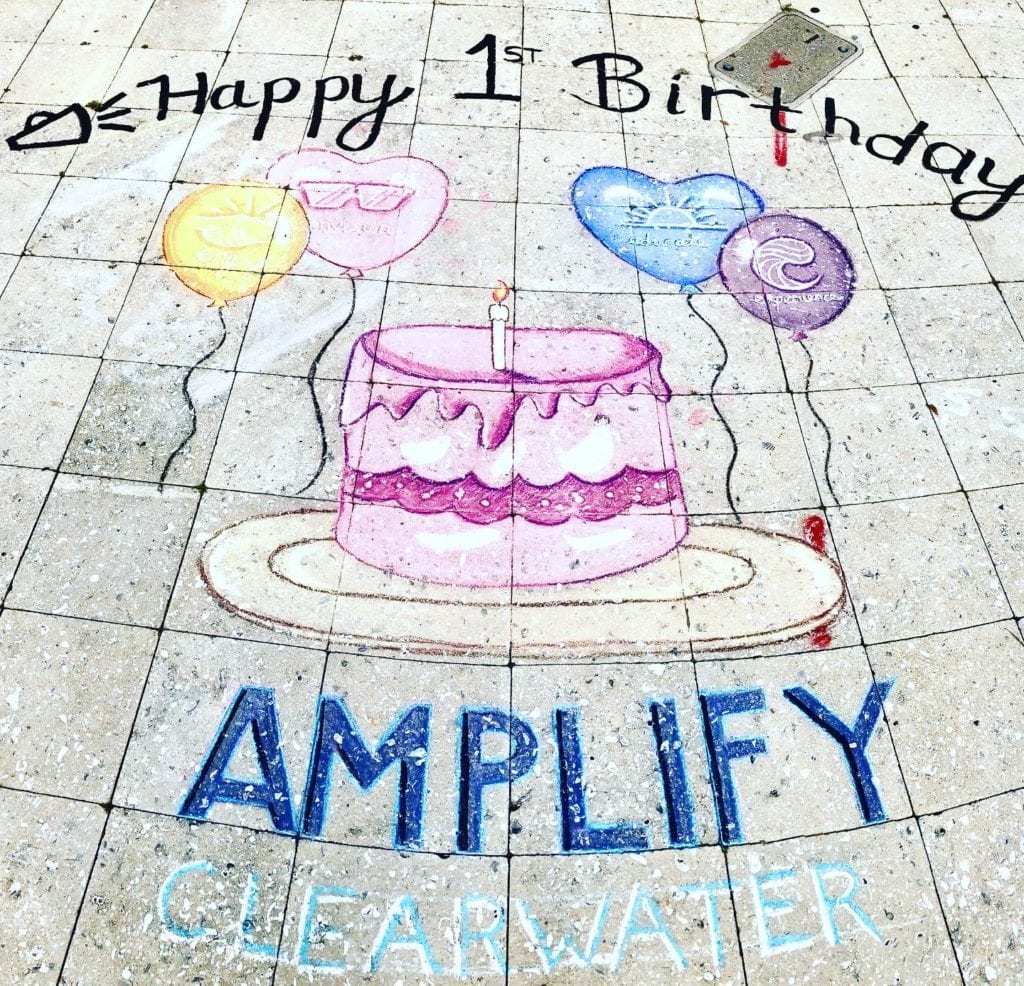 Amplify Clearwater Hold Chalktober Fest Week Three in Downtown Clearwater on Cleveland Street