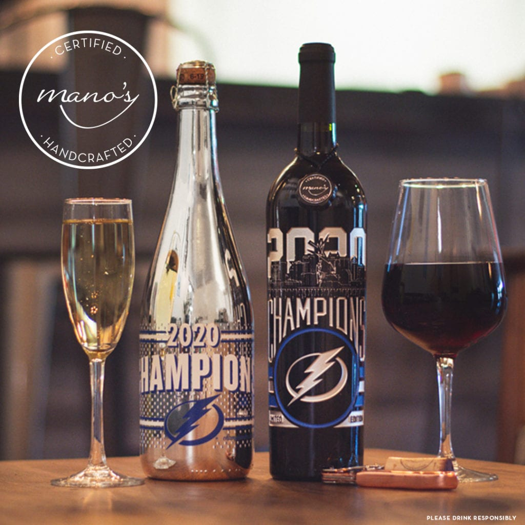 Mano's Wine Championship Reserve to commemorate the Tampa Bay Lightning 2020 Stanley Cup Championship