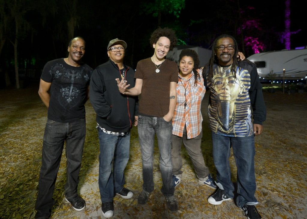 Dumpstaphunk perfroming at the 'Dunedin Wines the Blues'