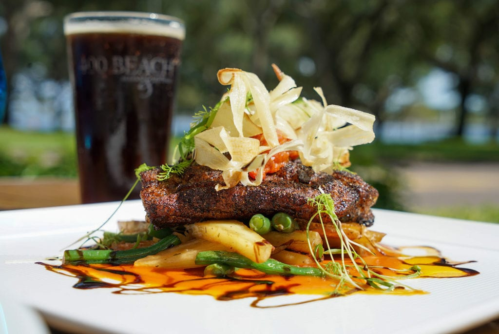 Another Plated dinner option available from 400 Beach Taphouse for the Glow Dinner Lounge
