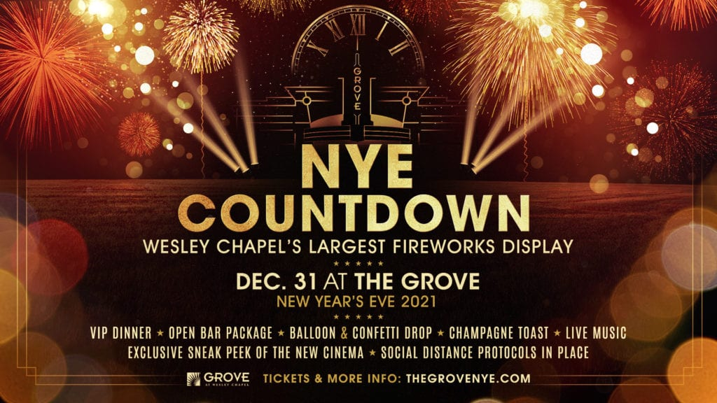 NEW YEAR'S EVE COUNTDOWN at the Gove at Westley Chapel