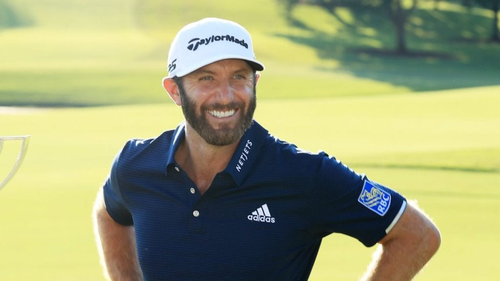 Dustin Johnson Plays at Valspar currently ranked number one.