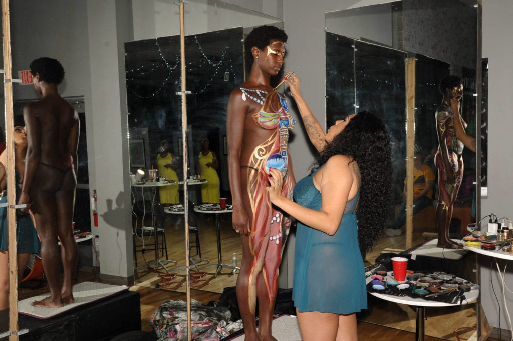 Skin will include a body painting contest