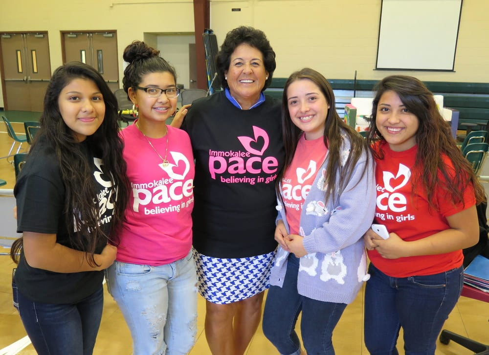 Rhonda Shear and re(treat) are committed to helping the community like pace for girls