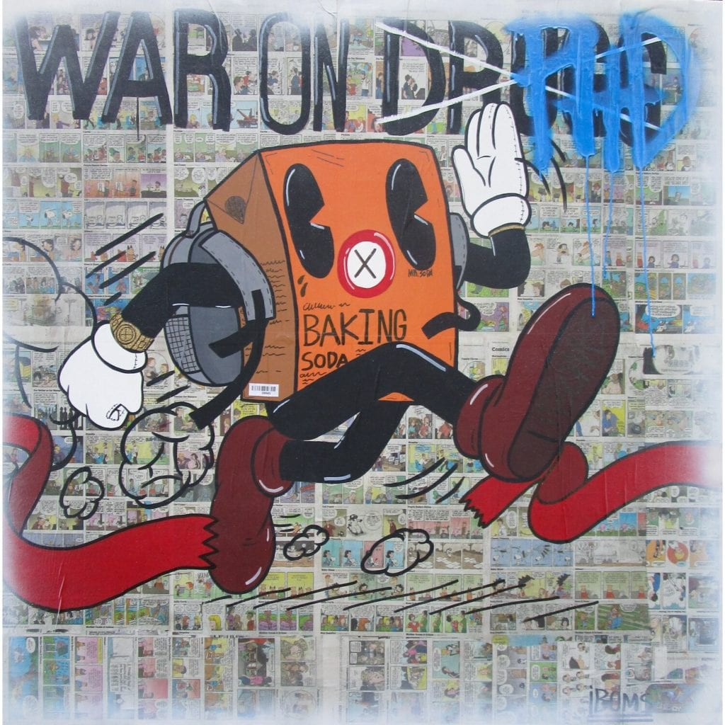 Artwork by iBOM to be in a solo exhibition at D-Gallerie.  Artwork War on PHD